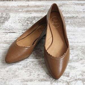 Jack Rogers Caroline Brown Leather Flats